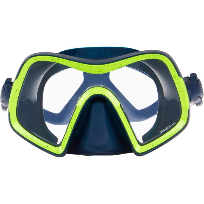 SCD 500 diving mask mono-lens glass skirt blue
