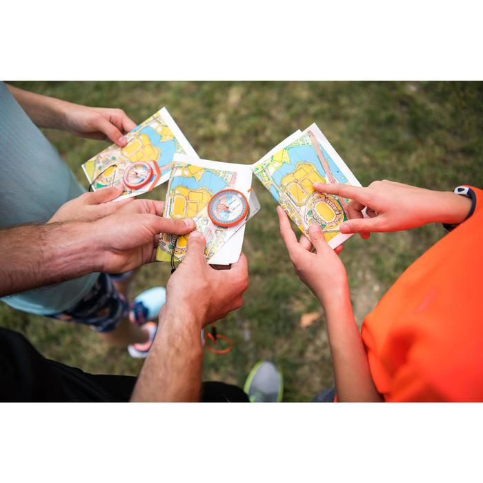 Brújula plaqueta para carreras de orientación o senderismo Explorer 500
