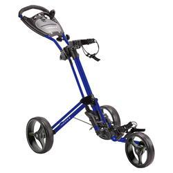 Golf Trolley 3 Rad kompakt blau