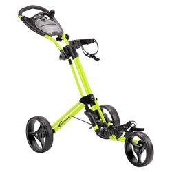 Driewiel golftrolley Compact geel