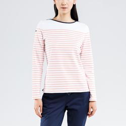 Sailing 100 Women's Long-Sleeved Sailing T-Shirt - White Coral CN