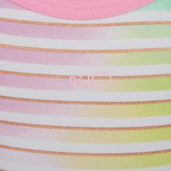 Debo Girls' One-Piece Shorty Swimsuit - Stripes Purple