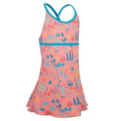 Riana Girl's One-Piece Dress Swimsuit - Bird Pink