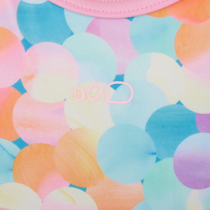 女童單件式連身裙泳裝Riana - 斑點/藍色