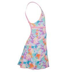 Riana Girls' One-Piece Dress Swimsuit - Dots Blue