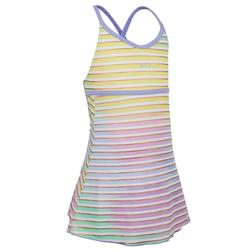 Riana Girls' One-Piece Dress Swimsuit - Stripes Purple