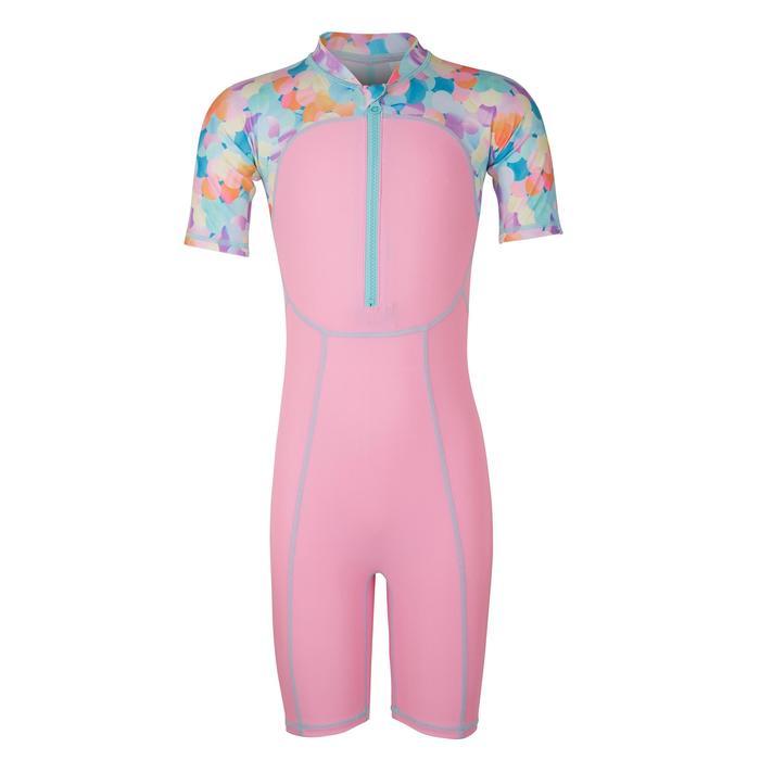 嬰幼兒短袖連身泳裝藍色粉色