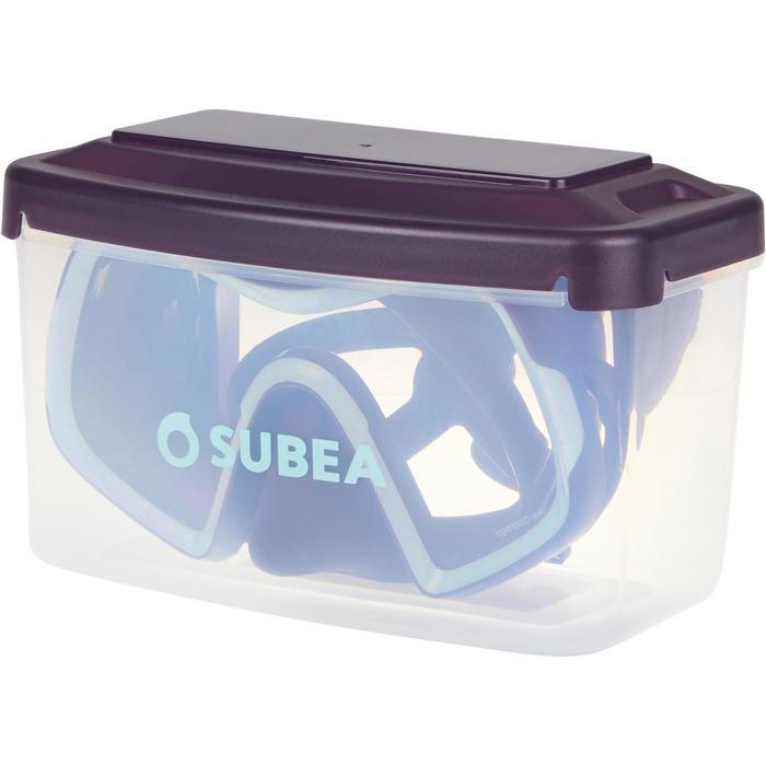 Tauchmaske SCD 500 Mono Einglas Maskenrand violett/blau