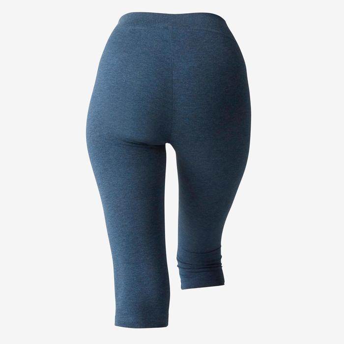 Corsaire Fit+ 500 slim Pilates Gym douce femme bleu chiné