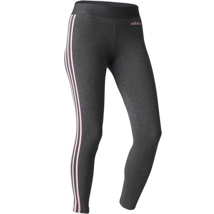 db8cb419352 Adidas Legging Adidas 3S 500 pilates lichte gym dames grijs/roze ...