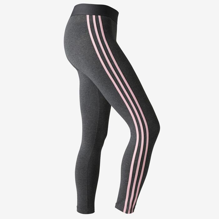 0306e689d10 Adidas Legging Adidas 3S 500 pilates lichte gym dames grijs/roze ...