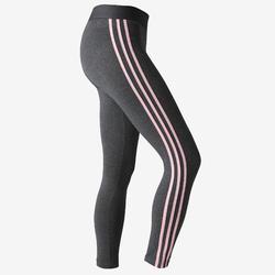 Leggings 500 Gym Damen grau/rosa