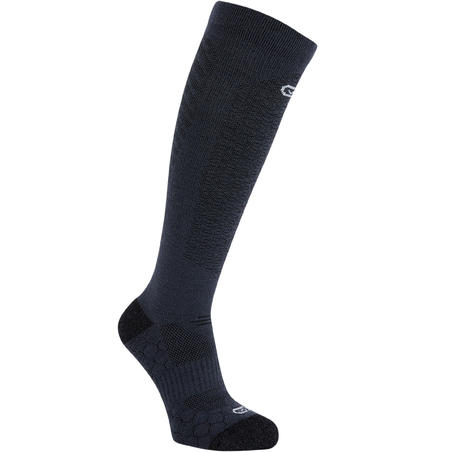 High Merino Wool Running Socks - Black
