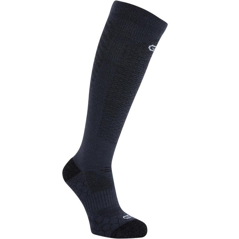 RUNNING MERINO WOOL HIGH SOCKS - BLACK