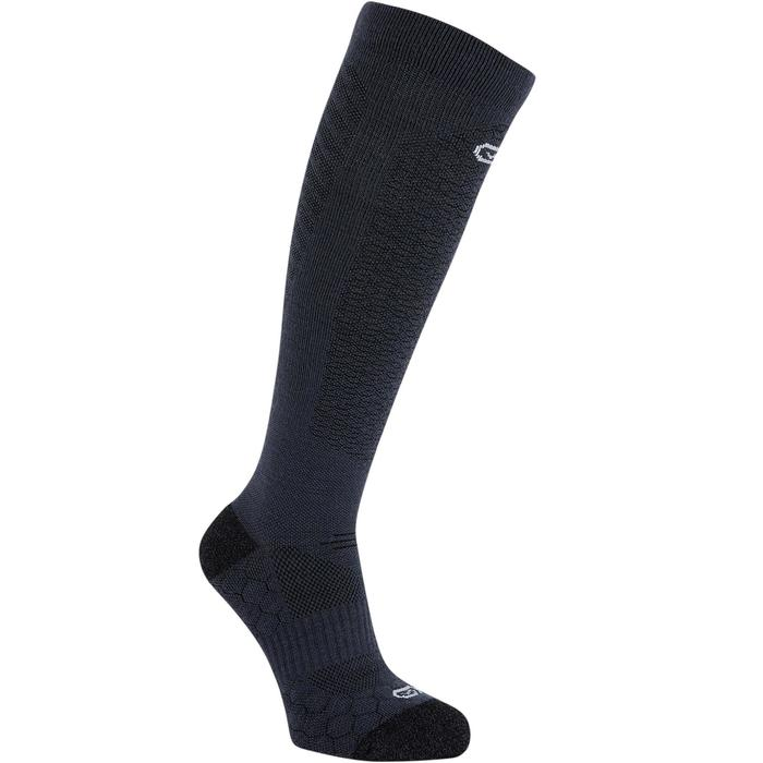 RUNNING MERINO WOOL HIGH SOCKS - BLACK