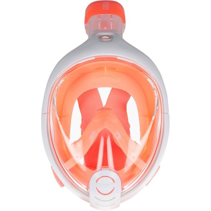 Máscara Snorkel Subea Easybreath 500 Niños Naranja Rosa