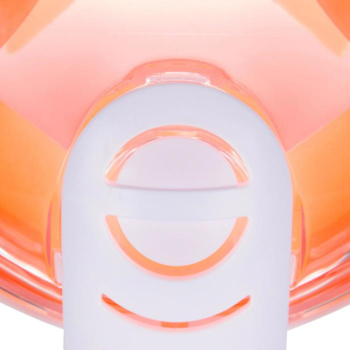 Schnorchelmaske Easybreath Kinder 6–10Jahre orange/rosa