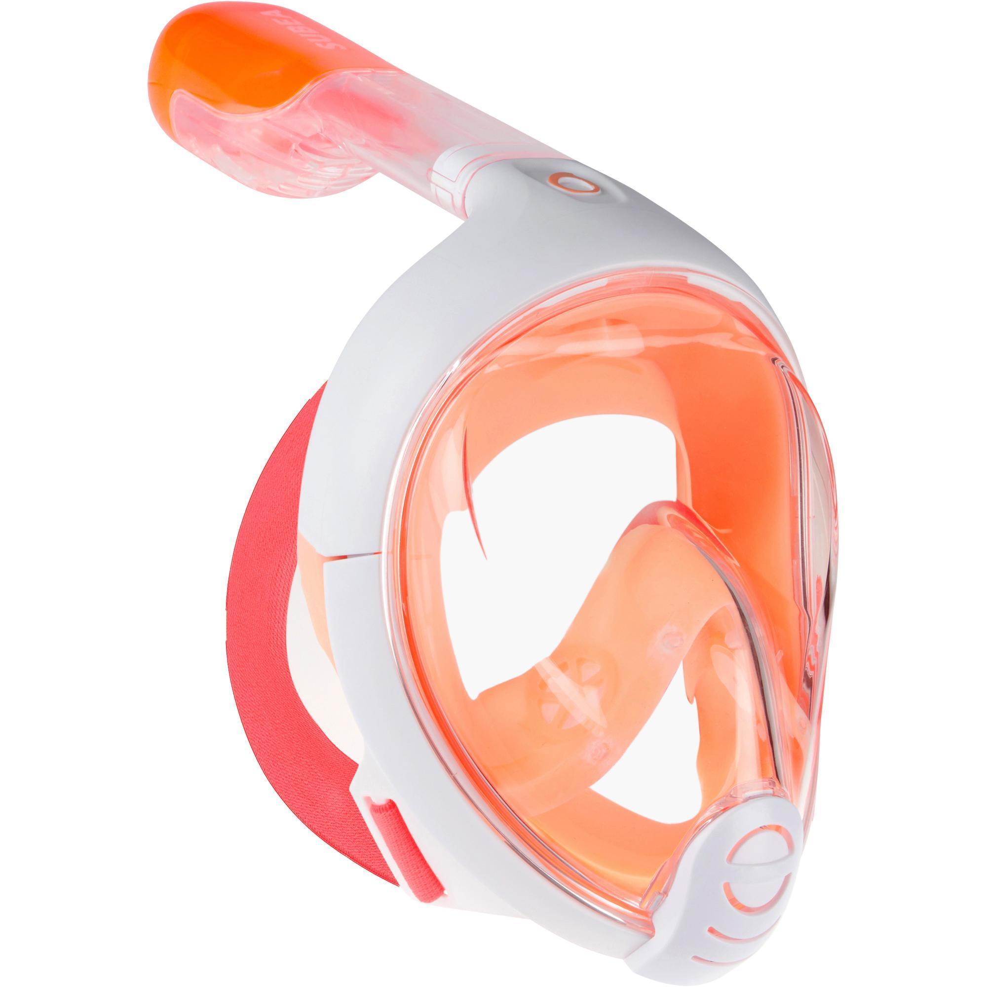 Subea Snorkelmasker Easybreath Junior kind (6-10 jaar) oranje roze