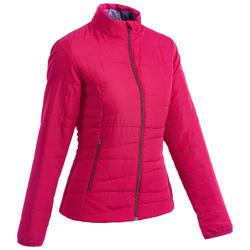 Chaqueta acolchada senderismo en la naturaleza mujer NH100 rosa frambuesa