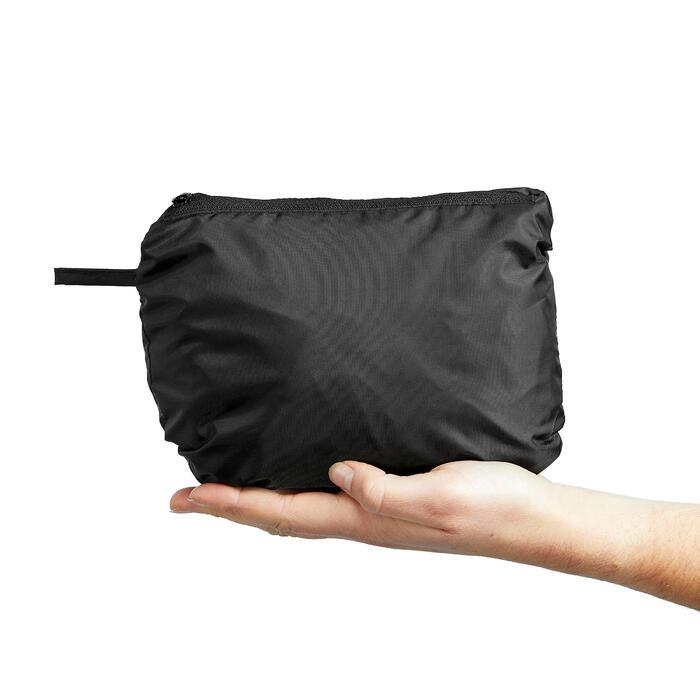 Sur-pantalon Imperméable randonnée nature NH500 Protect noir femme