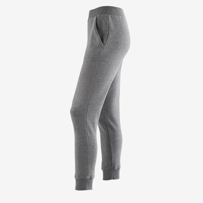 Jogginghose warm 100 Gym Kinder hellgrau