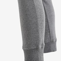 Pantalon chaud 100 fille GYM ENFANT gris clair imprimé