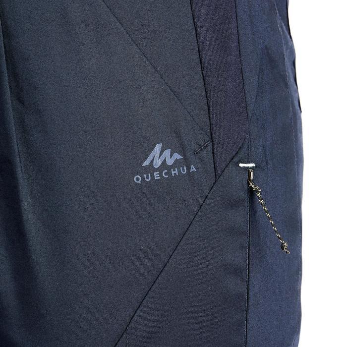 女款鄉村健行長褲NH500 Fit-軍藍色