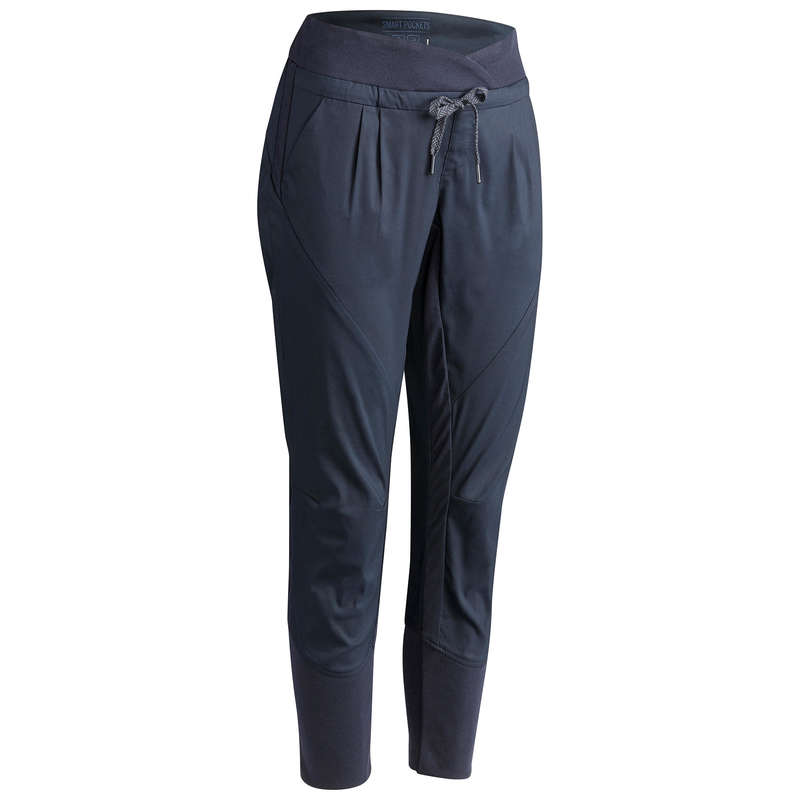 WOMEN NATURE HIKING PANTS Hiking - NH500 Slim trousers - Navy QUECHUA - Hiking Clothes