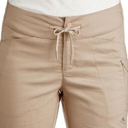 Pantaloni montagna donna NH500 REGULAR grigio scuro