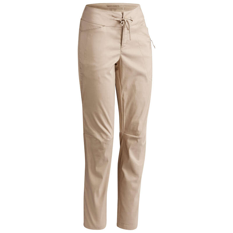 WOMEN NATURE HIKING PANTS Hiking - NH500 Regular Trousers - Beige QUECHUA - Hiking Clothes
