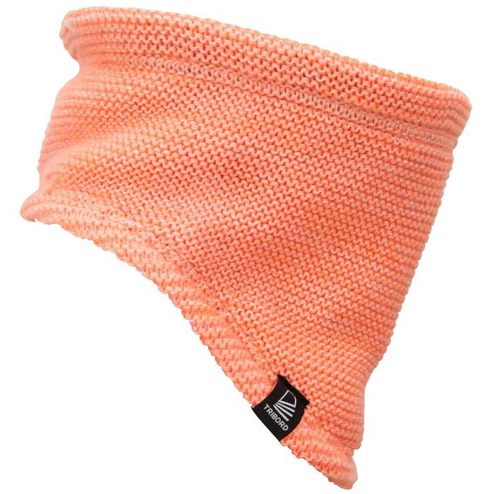 Warme en winddichte nekwarmer voor zeilen volwassenen Sailing 100 oranje