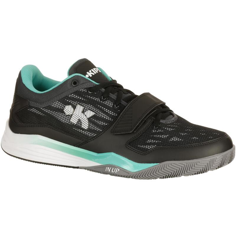 Basketbalschoenen Fast 500 voor volwassenen grijs/groen