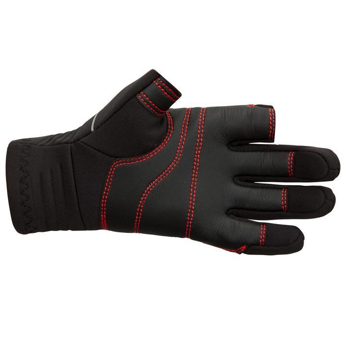 Zeilhandschoenen voor kinderen neopreen 1 mm 2 vingers vrij Sailing 500 zwart