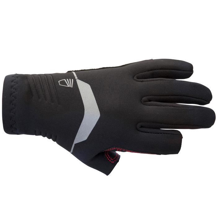 Gants voile JR, néoprène 1mm avec 2 doigts coupés noir sailing 500