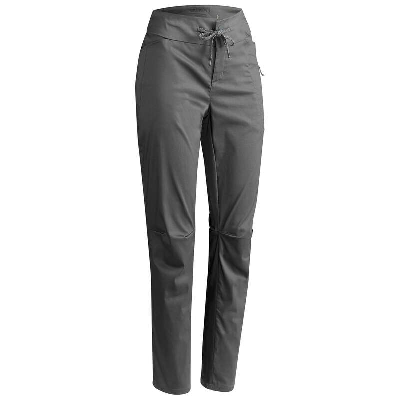 WOMEN NATURE HIKING PANTS Hiking - Trousers NH500 Regular - Grey QUECHUA - Hiking Clothes