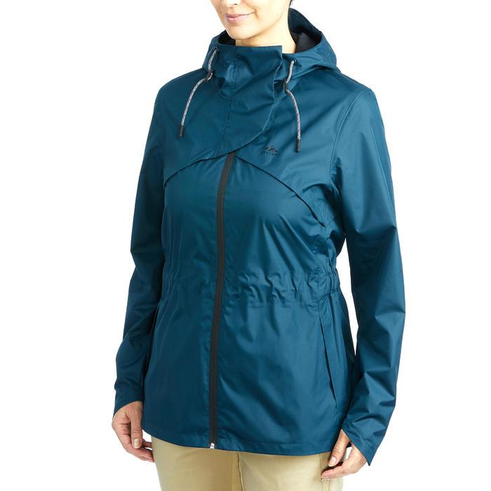 Veste Imperméable randonnée nature NH500 turquoise femme