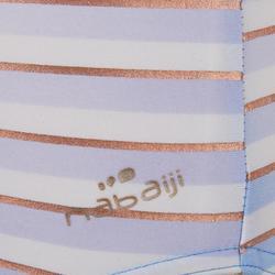 嬰幼兒單件式連身泳裝Madina,藍色與金色條紋