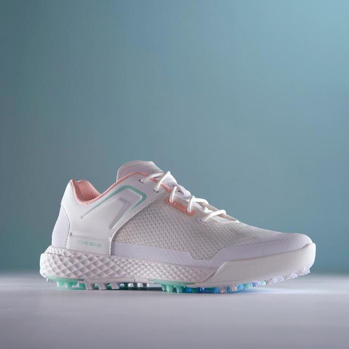女款高爾夫球鞋DRY GRIP-白色