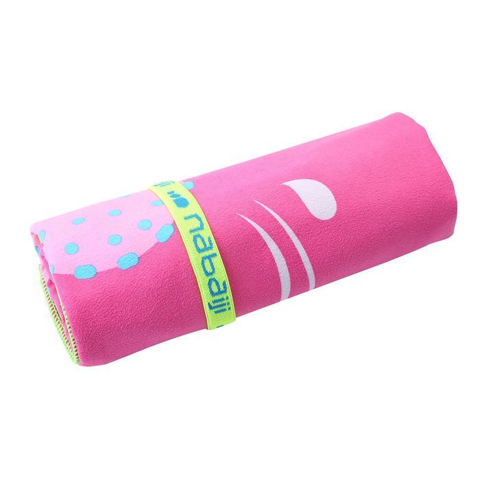 微纖維毛巾L號80 x 130 cm 粉紅色獨角獸印花