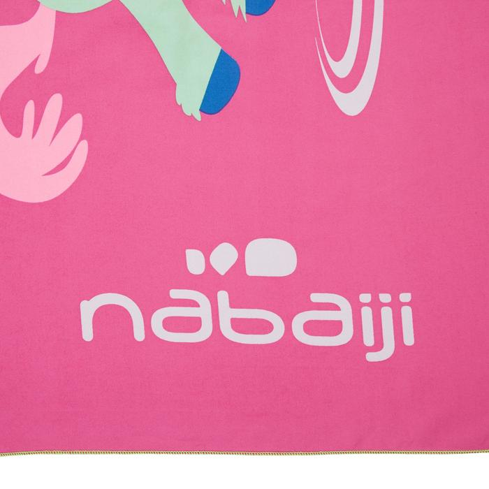 Printed Microfibre Towel, Pink, L - Unicorn