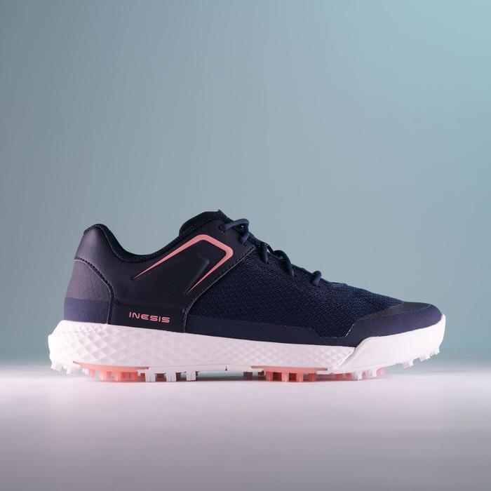 Golfschoenen dames Grip Dry marineblauw