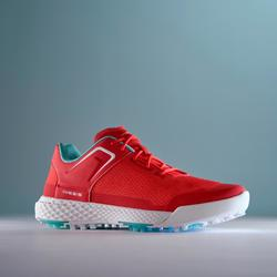 LADIES GRIP SUMMER GOLF SHOES CORAL RED