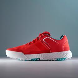 女款高爾夫球鞋DRY GRIP-珊瑚紅