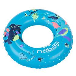 3至6歲兒童充氣式游泳圈51 cm藍色「龍」印花