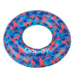 65 cm兒童6-9歲用充氣式泳圈藍色,藍色紅色