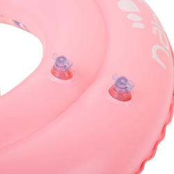 Pink kids' inflatable swim ring 6-9 Years 65 cm