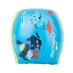 "kids's Swimming Armbands blue ""Dragon"" print fabric interior 15 -30 kg"