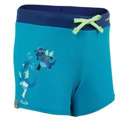 男孩款四角泳褲100 PEP-藍綠色龍圖案