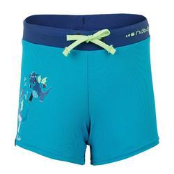 BOY'S SWIMMING BOXERS 100 PEP - DRAGON GREEN BLUE