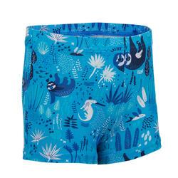 男嬰四角泳褲,深色/樹懶印花